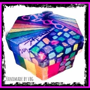 🆕 Abstract Prism Rainbow Box Handmade By Me